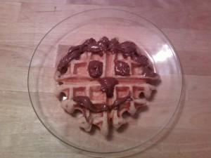 Fluffy Whole Wheat Happy Face Waffle