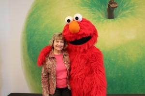 Ann Crider and Elmo