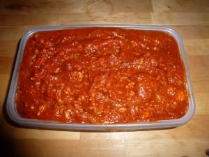 Cooled Pasta Sauce