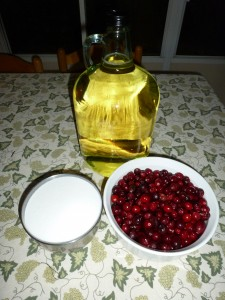 Cranberry Cordial Ingredients