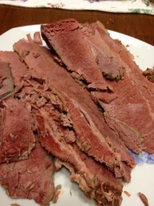 cooked corned beef