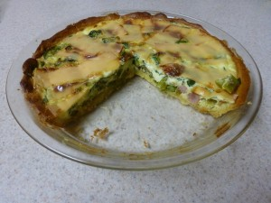 Crescent Roll Crust Asparagus and Ham Quiche
